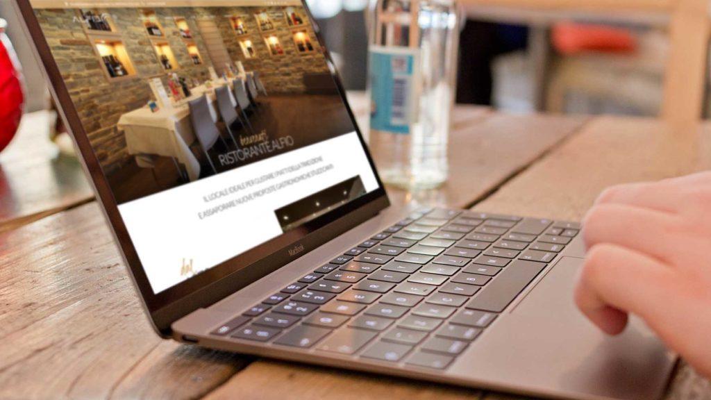 pc sito web aziendale ristorante alfio sito internet Giaco studio
