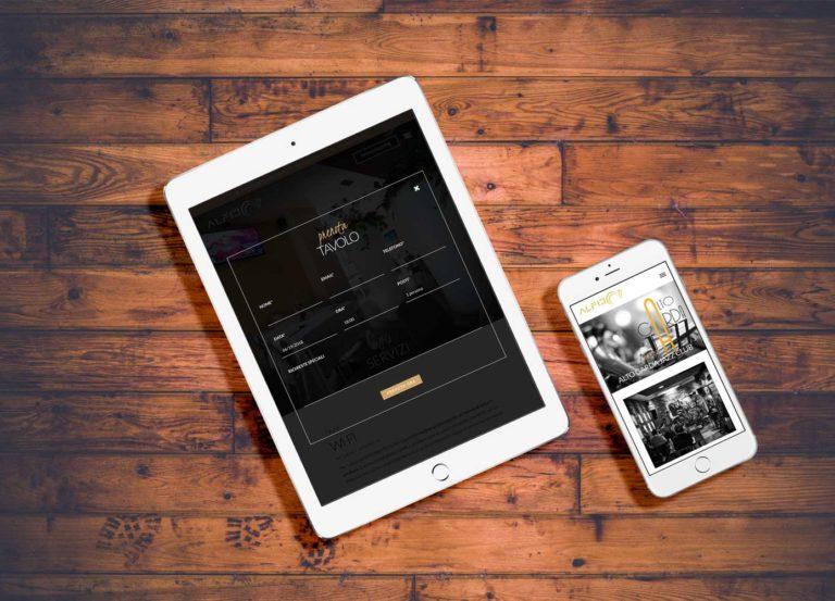 smartphone tablet sito web aziendale ristorante alfio sito internet Giaco studio