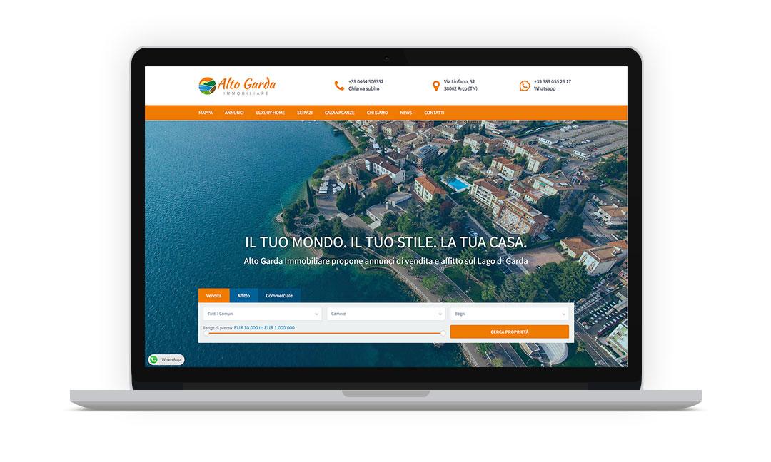 mockup 1 sito web annunci online alto garda immobiliare giaco studio