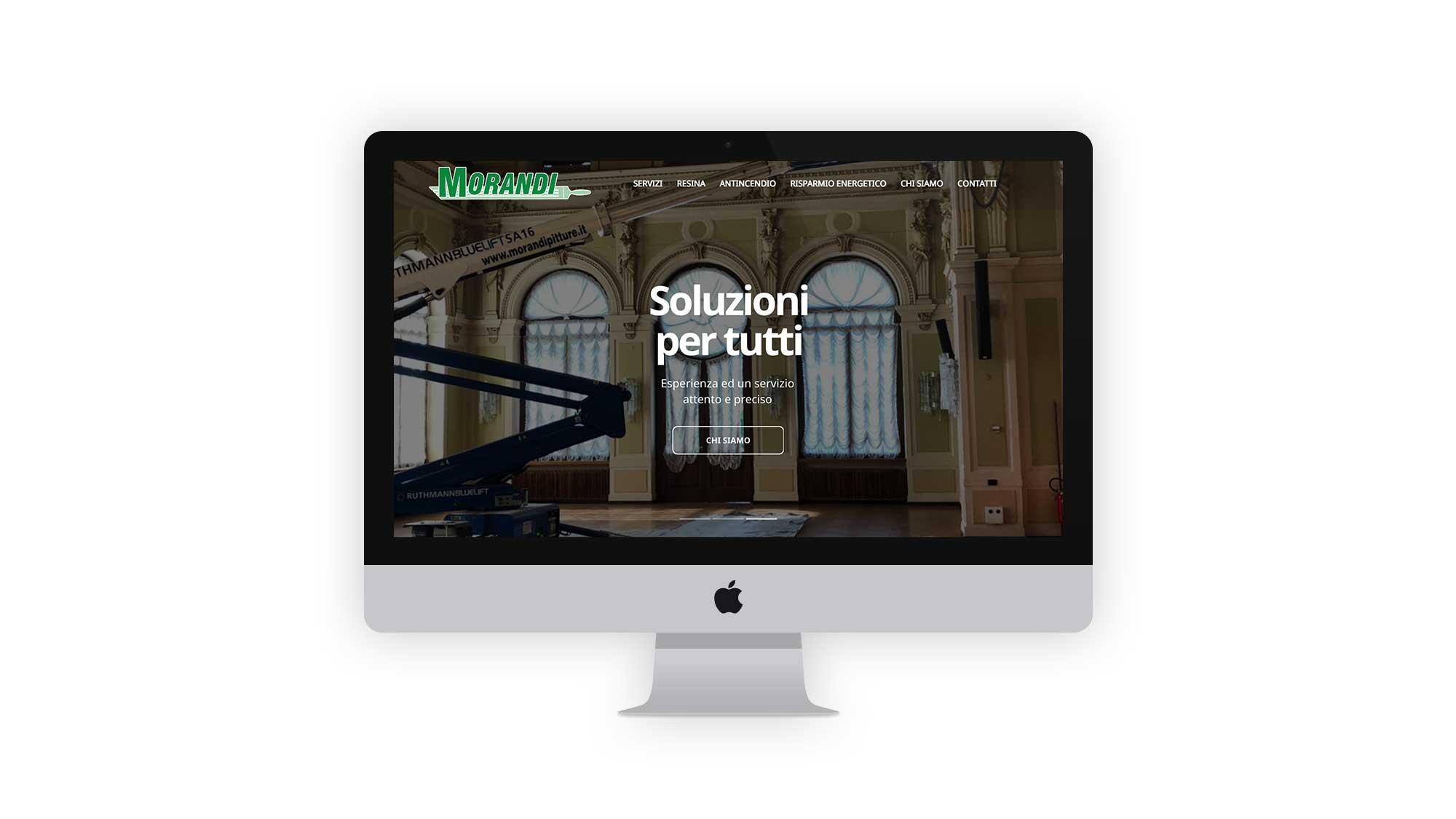 homepage sito web aziendale morandi pitture arco