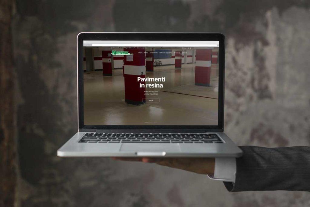 mockup sito internet sito web arco morandi pitture giaco studio
