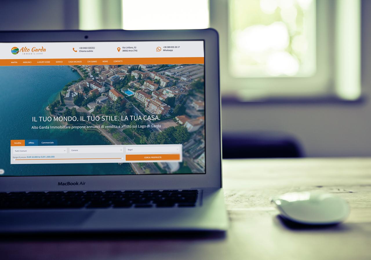 Alto Garda Immobiliare Website mockup