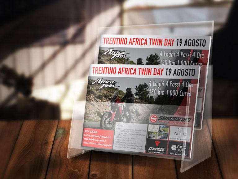 espositore volantino Honda africa twin sembenini moto giaco studio