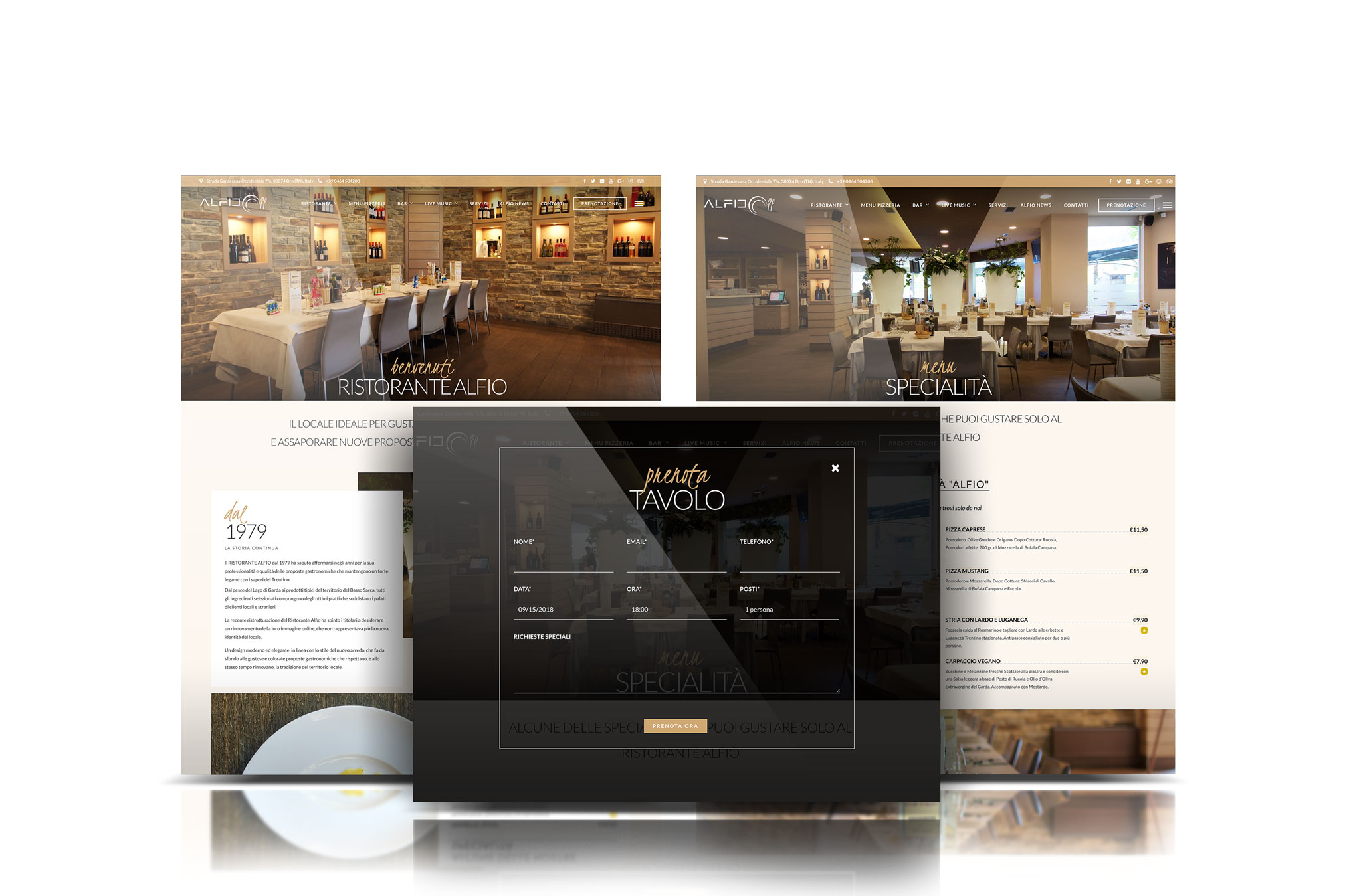 showcase sito web aziendale ristorante alfio sito internet Giaco studio