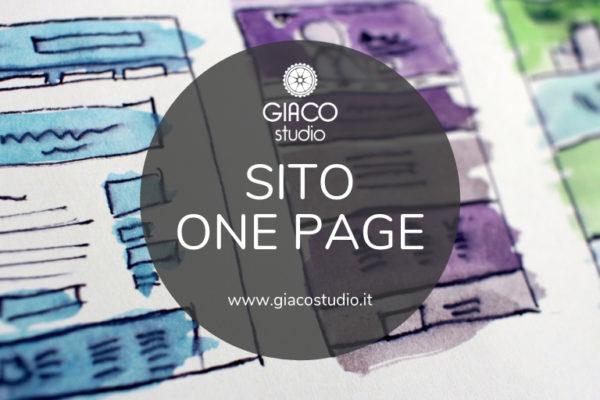 testata sito one page siti web a pagina singola vantaggi e svantaggi giaco studio