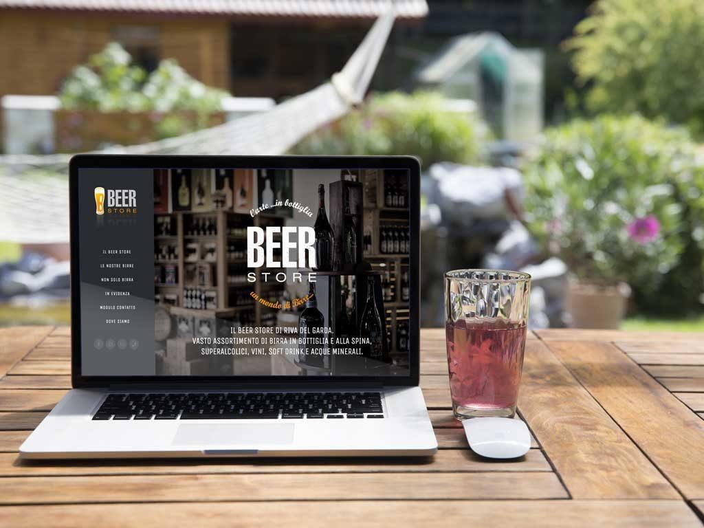 sito one page beer store horeca bevande riva del garda