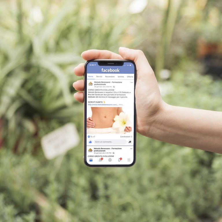 social marketing metodo benessere smartphone
