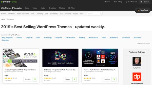 template wordpress envato market
