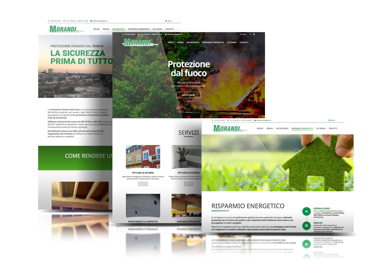sito web aziendale morandi pitture arco