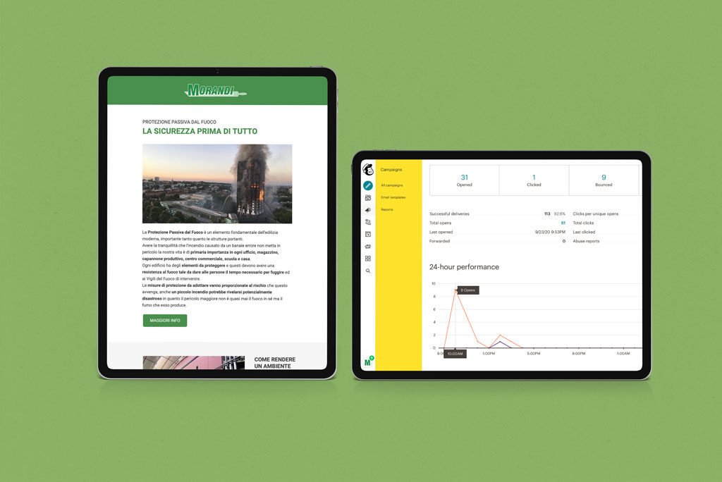 Morandi Pitture direct email marketing Web Marketing