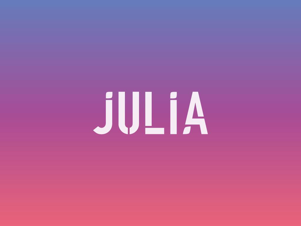 Logo Julia personal branding