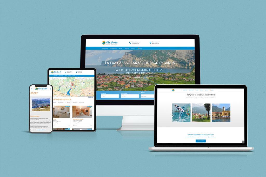 Alto Garda Holiday Apartments Website multidevice