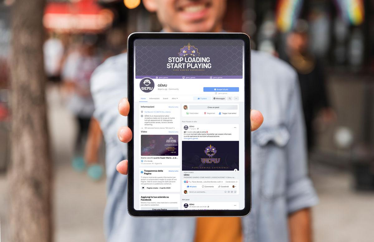 Gemu Social marketing instagram facebook twich giaco studio