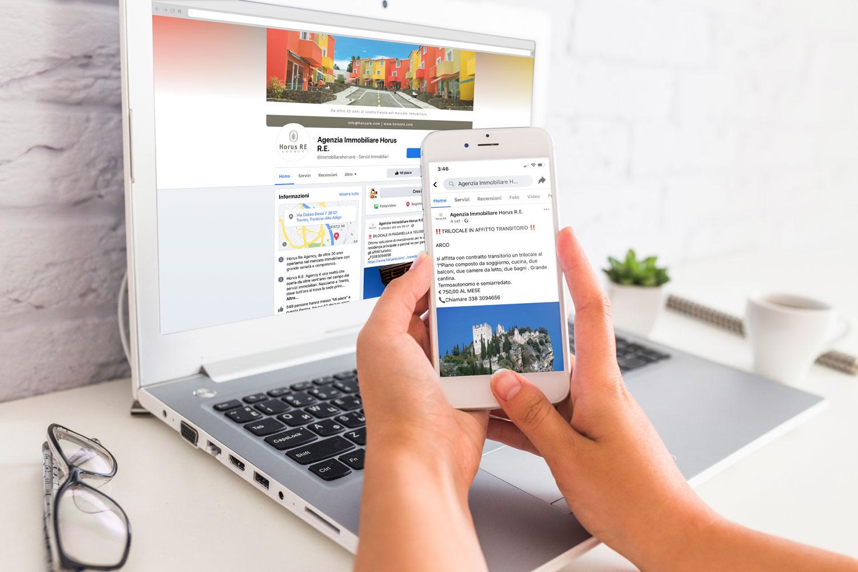 Horus RE Agency Web e Social marketing facebook giaco studio