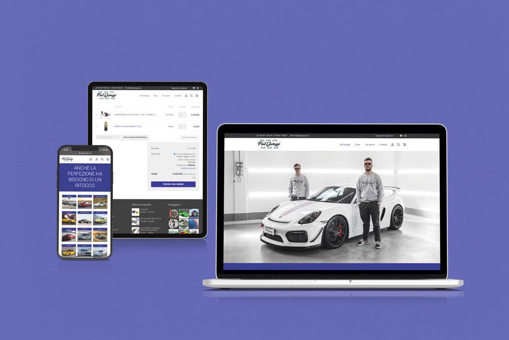 Flat garage Sito web Multidevice Giaco studio
