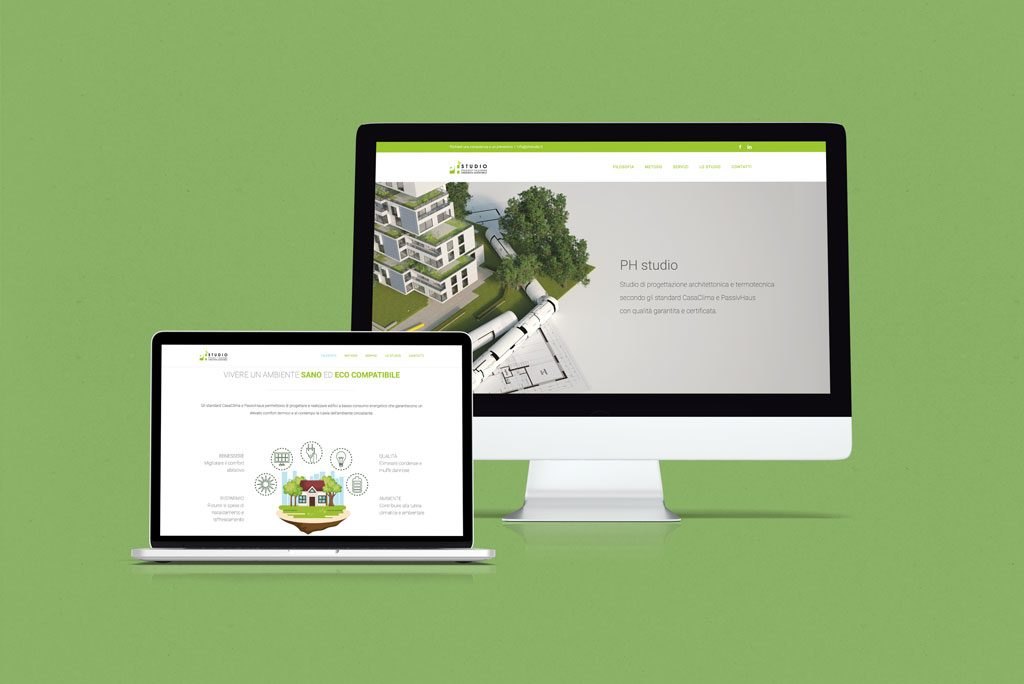 PH studio Sito web Multidevices Giaco studio